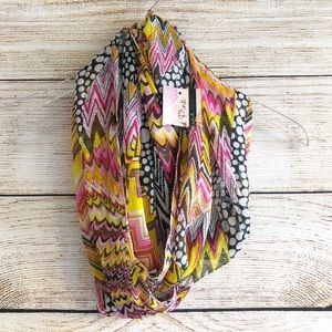 NWT Colorful Infinity Scarf